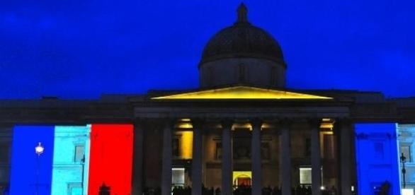 Supporters gather in Trafalgar Square