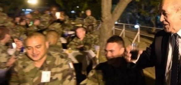 Le ministre français de la défense à Ndjamena