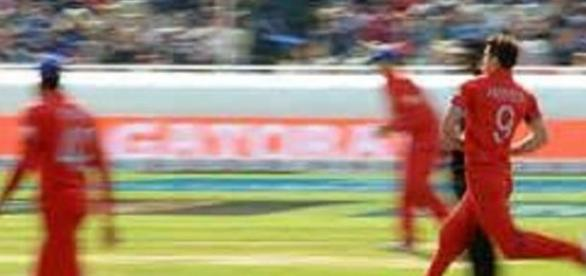 James Anderson was back for England in attack