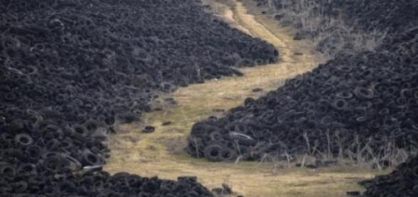 Depósito de lixo vulcanizado na Espanha