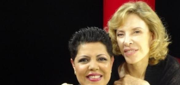 Elisabete Oliveira e Marília Gabriela