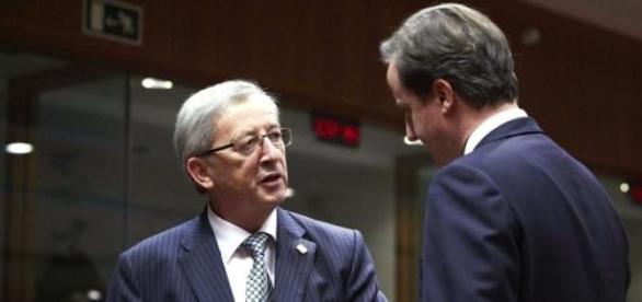 Cameron & Juncker in disagreement