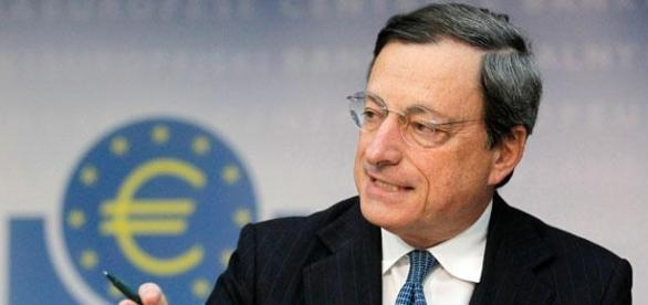 Mario Draghi na reunião do BCE.