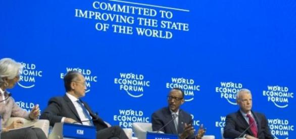 President Kagame speaking at World Economic Forum