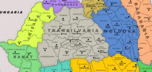 Harta Romaniei Mari la 24 inauarie 1849 A. I. Cuza
