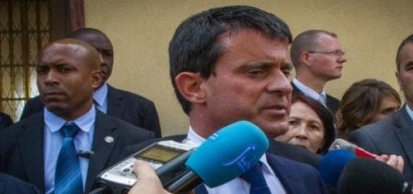 Manuel Valls en una rueda de Prensa.