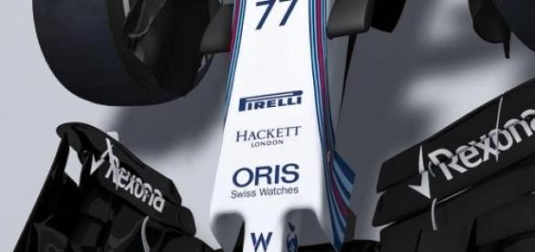 Bico do carro da Williams para 2015