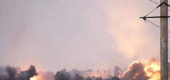 Bombardament asupra orasului Mariupol