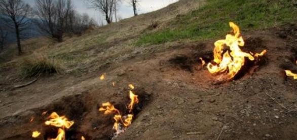 Focul viu de la Lopatari!