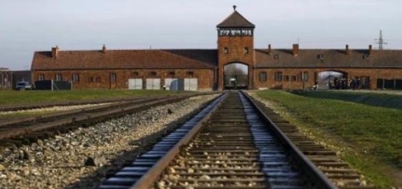 Le camp nazi d'Auschwitz en Pologne.
