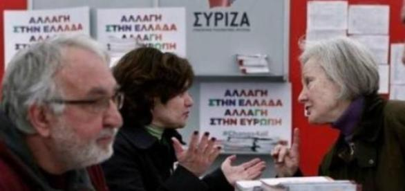 Partidários gregos da Syriza