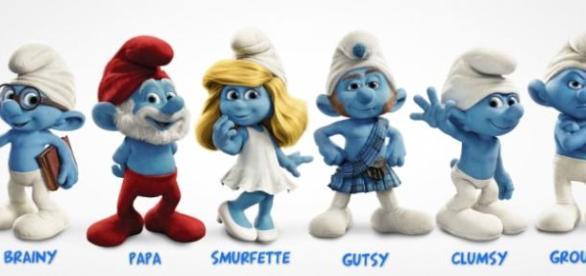 smurfii sunt mici creaturi albastre