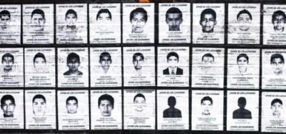 Les étudiants d'Ayotzinapa sont disparus.
