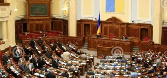 Parlamentul Ucrainean in sesiune