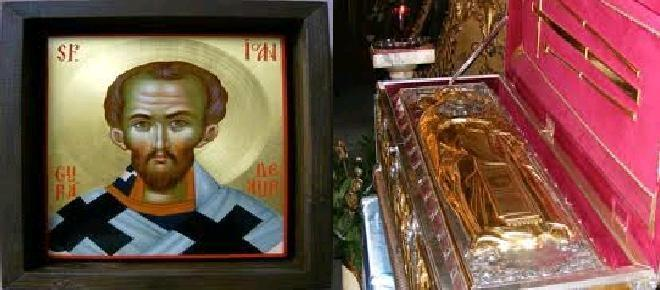 Icoana si moastele Sfantului Ioan Gura de Aur