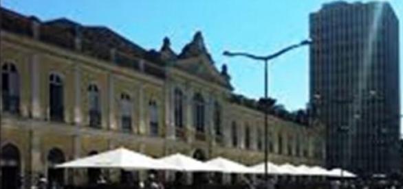 O vazio do Mercado Público, no centro da capital