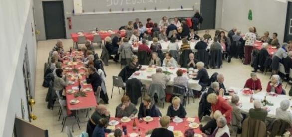 Vue de la Salle de repas à la Maison pour Tous.