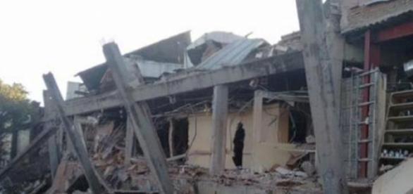 Imagen del hospital tras la explosión