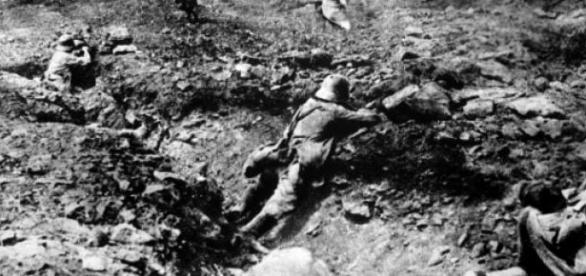 Soldados alemanes en Francia, I Guerra Mundial