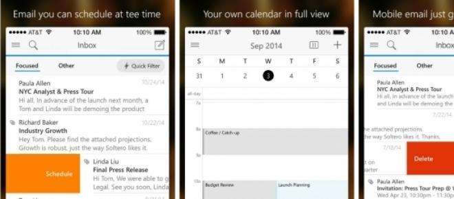 outlook lança nova aplicação