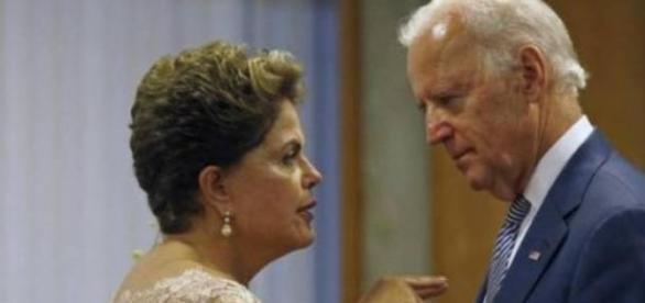 Dilma com o vice-presidente americano Joe Biden
