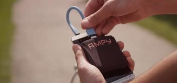 Ampy bateria care se incarca cu energie kinetica