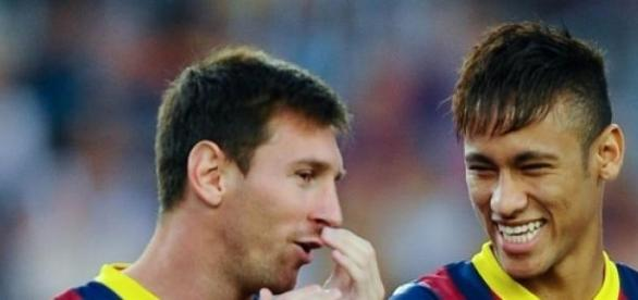 Messi y Neymar entraron de cambio