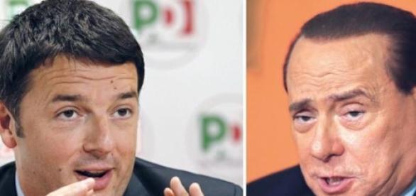 Matteo Renzi e Silvio Berlusconi