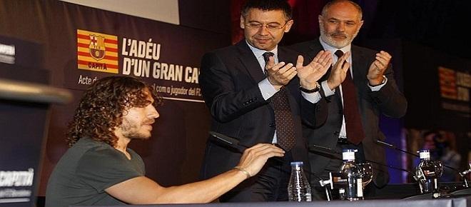 Carles Puyol, el otrora capitán del club