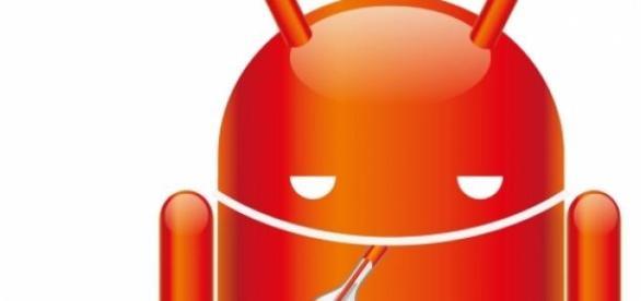 Muñeco de Android infectado
