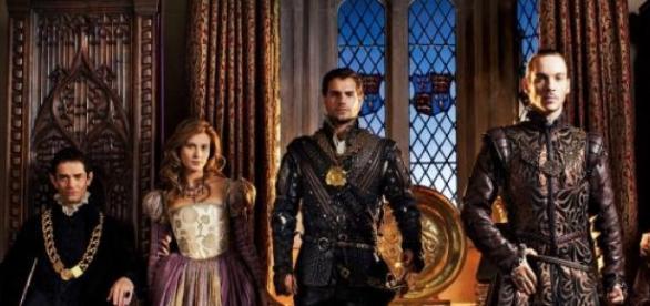"""Quelques personnages de la série  """"Les Tudors"""""""
