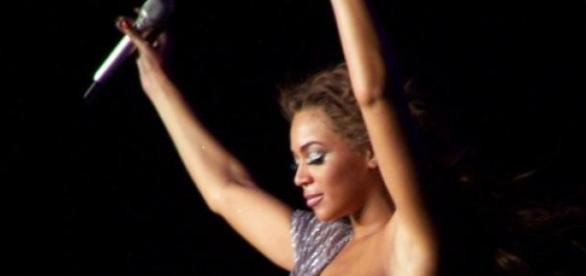 Beyonce in a 2007 tour in Spain