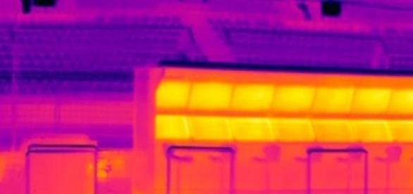 Cámara térmica en circuito de F1.