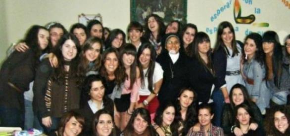 Cena de Navidad en un colegio Mayor madrileño