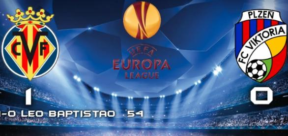 Villarreal 2-1 Viktoria Plzen Europa League