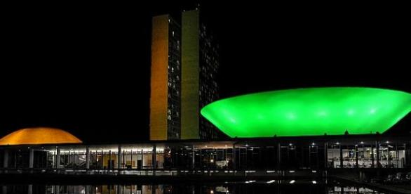Congresso Nacional e Câmara dos Deputados (verde)