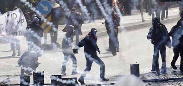 Momento das manifestações de alguns turcos!