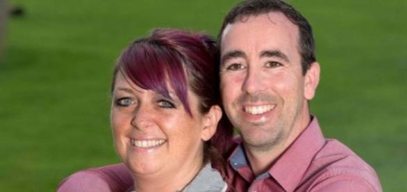 Louise Palmer com o marido Kevin
