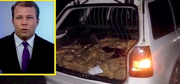 Jornalista da Globo é preso com 240 quilos