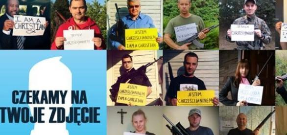 Zdjęcie z Facebooka akcji JestemChrześcijaninem