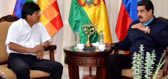 Evo Morales Aima y Nicolás Maduro