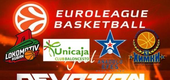 Lokomotiv, Unicaja, Efes y Khimki, las sorpresas