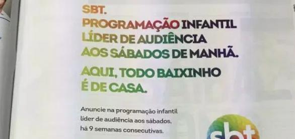 SBT sacaneia derrotas do 'É de Casa' em anúncio