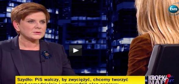 Beata Szydło obwinia PO za opady śniegu?