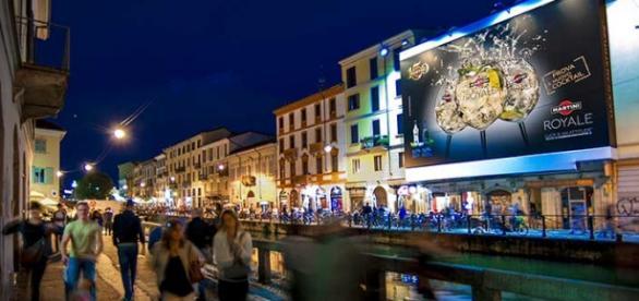 Ripa di Porta Ticinese en imagen de archivo