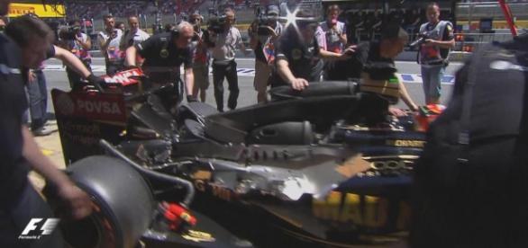 Romain Grosjean durante unos entrenamientos libres