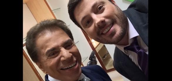 Silvio Santos e Danilo Gentili tem reunião