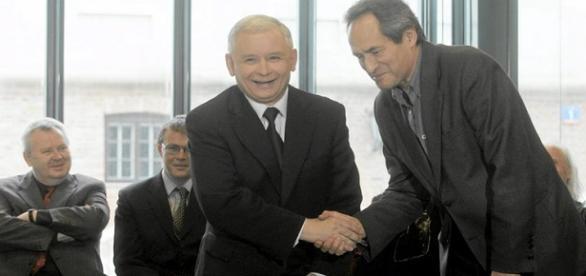 Jarosław Kaczyński i Jerzy Zelnik. Źródło: Onet.pl