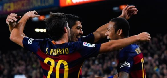 S. Roberto, Neymar y Suárez, protagonistas de hoy.