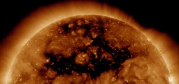 Gaura observata in Soare, de o sonda NASA